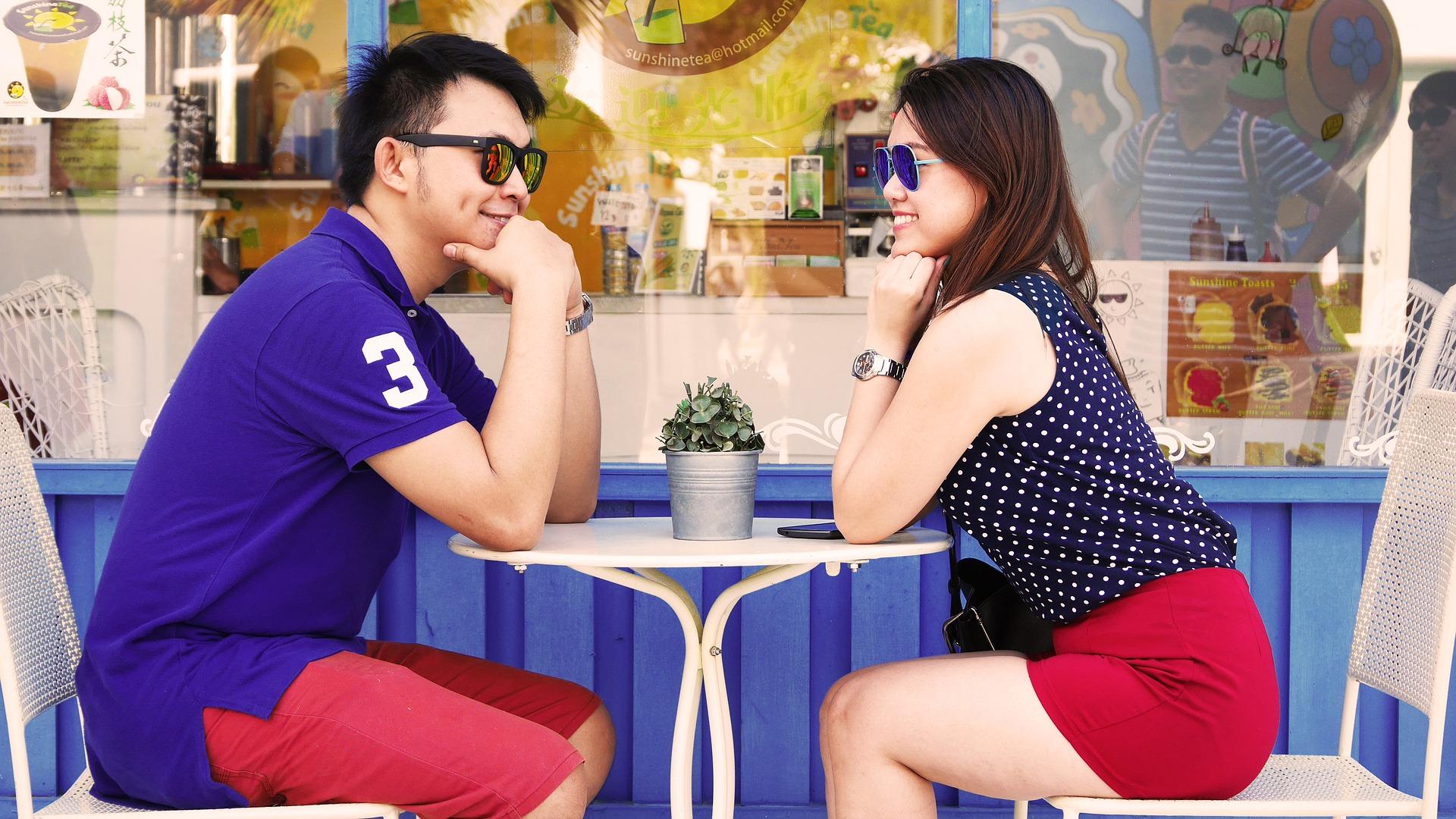 Couple qui se rencontre